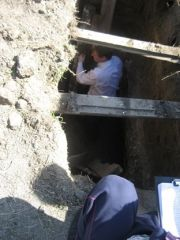 Симферополь 11 км Феодосийского шоссе, разрытие гробокапателей, фото А.Гендин