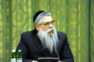 Главный раввин Яков Дов Блайх на встрече с Азаровым, фото пресс-службы Кабмина